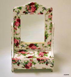 Zrkadlá - Nostalgické zrkadielko ružičky - 6023148_