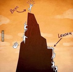 The difference between a leader and a boss.