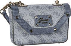 Guess Park Lane Petite Crossbody Flap Bag Indigo - Abendtasche   Clutch