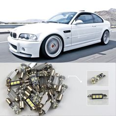 (27.18$)  Buy here  - Car-Styling #74 10x White LED Lights Interior Dome Map Reading Package Kit CANBUS ERROR FREE For BMW 3 Series E46 CONVERTIB
