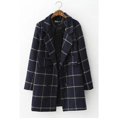 Classy Plaid Winter Coat (375 VEF) ❤ liked on Polyvore featuring outerwear, coats, plaid coat, wool blend coat y tartan coat