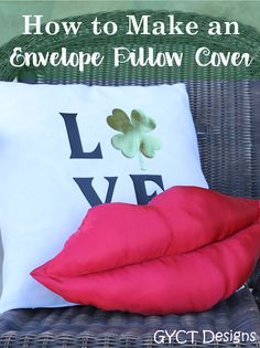 How to Make an Envelope Pillow Cover and customize with heat transfer vinyl