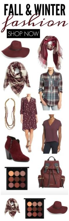 Burgundy Fall Fashion Trends for Women! Accessories, Dresses, Makeup, Boots and more!