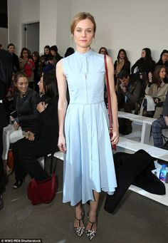 Sartorial savvy: Diane Kruger was just one of the style switched on stars to make an appea...