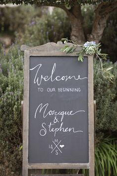 wedding welcome sign idea