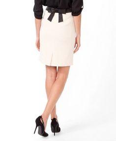 Contrast Bow Back Skirt | FOREVER 21 - 2030472204