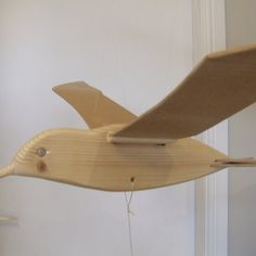 Wooden Bird Mobile Flapping Tern