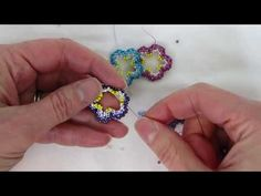 Open Double-Sided Flower Bead Weaving Tutorial - YouTube  (they're cute, but I don't know what I'd do with them)