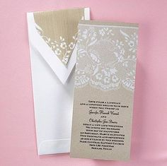 Homespun Bridal Wedding Invitation