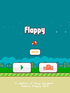 Flappy - A Replica Of The Original Bird Game App ‪#‎flappy‬ ‪#‎replica‬ ‪#‎app‬ ‪#‎freeappsking‬ ‪#‎freeapps‬ ‪#‎itunes‬ ‪#‎googleplay‬ ‪#‎android‬ ‪#‎apps‬ ‪#‎ipad‬ ‪#‎iphone‬ ‪#‎itouch‬ ‪#‎retro‬ ‪#‎gaming‬ ‪#‎games‬ ‪#‎DenislavKochev‬