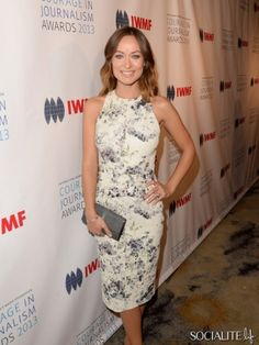 BEVERLY HILLS, CA - OCTOBER 29: Actress Olivia attends the International Women's Media Foundation's 2013 Courage in Journalism Awards at the...