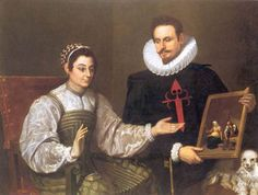 1610 - Artist unknown - A Knight of Santiago and His Lady.    See also http://ukartmuseumintern.tumblr.com/post/100592230168/a-knight-of-santiago-and-his-lady-circa And  http://uponasunnyday.com/tag/a-knight-of-santiago-and-his-lady/