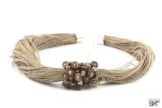 NECKLACE WITH FLAX AND COCONUT