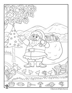 Art therapy activities for kids Santa Claus Christmas Hidden Picture Printable Page Christmas Decorations For Kids, Christmas Colors, Kids Christmas, Christmas Cookies, Christmas Crafts, Hidden Pictures Printables, Printable Pictures, Preschool Coloring Pages, Coloring Pages For Kids
