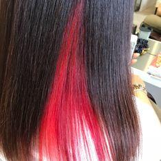 鈴木健二さんはInstagramを利用しています:「インナーカラー🔴 オレンジ🍊とレッドのグラデーション😜 #インナーカラー #グラデーションカラー#マニパニ #マニパニ赤 #カラー #美容室#美容師#aviora」