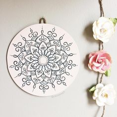 This little bebe just got put up in the shop! A soft pink hand painted mandala on a wooden disk 🌸 it is literally screaming SPRING!! I have…