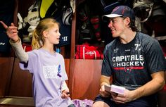 Make-A-Wish kid might be T. Oshie's new good-luck charm Hockey Teams, Hockey Players, Ice Hockey, Wish Kids, Capitals Hockey, Hockey Boards, Make A Wish, How To Make, Washington Capitals