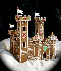 Inspiration for my lifesize gingerbread castle...