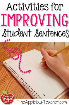 and Ideas for Improving Student Sentences Activity ideas for helping students write better sentences. Seriously, my kids NEED this!Activity ideas for helping students write better sentences. Seriously, my kids NEED this! Writing Strategies, Writing Lessons, Writing Resources, Teaching Writing, Writing Skills, Writing Ideas, Teaching Ideas, Writing Process, Teaching Strategies