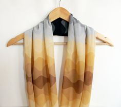 Ombre Scarf Brown Scarf infinity Scarf Women by HeraScarf on Etsy