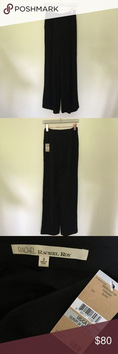 NWT RACHEL Rachel Roy black flowy wide leg pant New black pants! From the Brighton The Day blog! No trades. RACHEL Rachel Roy Pants Wide Leg