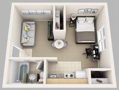 studio apartment floor plans 500 sqft - Recherche Google