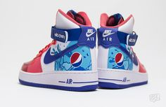 Pepsi #ExplosiveCherryKicks Air Force 1 High Custom by Jake Danklefs