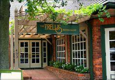 The Trellis Restaurant Outdoor Patio area design in Williamsburg Virginia...my all time favorite restaurant.