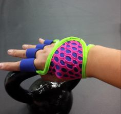 Purple Rain workout gloves by G-Loves