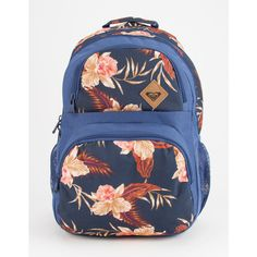 Roxy Shadow Dream Backpack ($45) ❤ liked on Polyvore featuring bags, backpacks, embroidered bags, pocket backpack, mesh backpack, roxy backpack and zipper bag