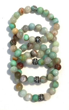 A personal favorite from my Etsy shop https://www.etsy.com/listing/289662795/sale-set-of-4-amazing-amazonite-and