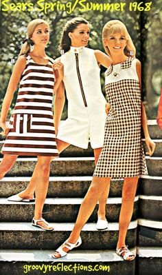 Feelin' cool, crisp, and GRooovy in some fashions for warmer weather! #fashion #GRoovy #Sears #1968