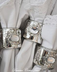 Mercury glass napkin rings