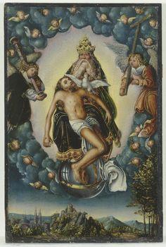 Lucas Cranach the Elder -Der Heilige Dreifaltigkeit(The Holy Trinity); The Paula Modersohn-Becker Museum, Bremen, Germany; c.1516 - 1518