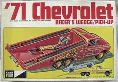 MPC 1/25 1971 Chevorlet Racers Wedge Pickup or Stock '71 Fleetside Pickup, 1-7108 plastic model kit