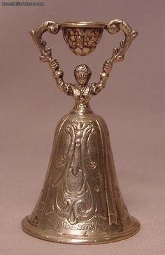 Antique Hallmarked German Silver Wedding Cup Circa 1880