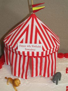 Circus tent cake!   Circus/Friendly Clown   Pinterest   Circus cakes Circus party and Tiered cakes & Circus tent cake!   Circus/Friendly Clown   Pinterest   Circus ...