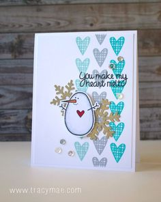 Tracy Mae Design: Holiday Card Series 2015 Day #1 - Paper Smooches Card