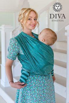 Diva Milano - Diva Enssenza Woven Wrap - Smeraldo Bamboo/Cotton, , Woven Wrap, Diva Milano, Carry Them Close  - 1