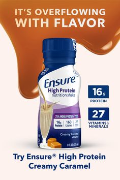 Get the targeted nutrition of Ensure® High Protein in a delicious new Creamy Caramel flavor! of high-quality protein supports muscle strength to help you stay active. It& also available in great-tasting Milk Chocolate, Vanilla, and Strawberry flavors. Protein Shake Recipes, Protein Shakes, High Protein, Smoothie Recipes, Funny Tweets, Funny Relatable Memes, Healthy Weight Gain, Lose Weight, Caramel Flavoring