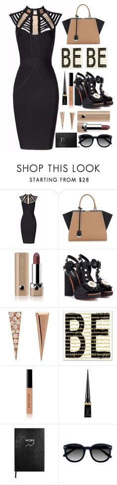 """Attitude"" by sunnydays4everkh ❤ liked on Polyvore featuring Posh Girl, Fendi, Marc Jacobs, Dolce&Gabbana, Eva Fehren, Stupell, Bobbi Brown Cosmetics, Christian Louboutin, Sloane Stationery and Ace"