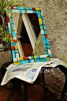 espejos artesanales realizados en vitrousiòn