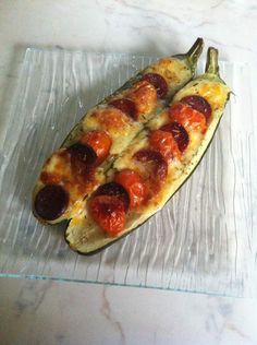 courgette garnie au chorizo tomates mozzarella - Les délices de Cintit #testeetapprouve