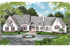 European Dream Home Plan - 17722LV | 1st Floor Master Suite, Butler Walk-in Pantry, Corner Lot, Den-Office-Library-Study, European, In-Law Suite, Jack & Jill Bath, Loft, Luxury, Media-Game-Home Theater, Multi Stairs to 2nd Floor, PDF, Traditional | Architectural Designs