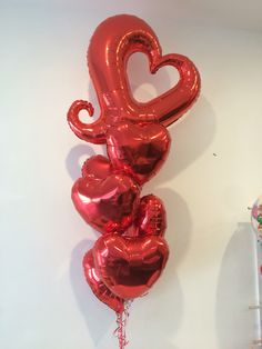 Has Valentine's Day come early? A beautiful bouquet for an anniversary... Who wouldn't celebrate with balloons?