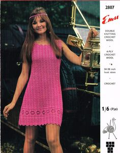2807E  ladies dress  crochet summer wear  for by EnglishCrochet
