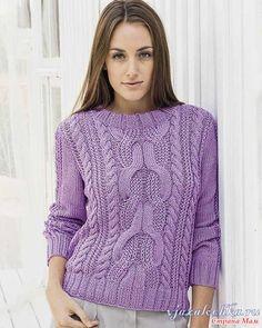 """Пуловер """"сиреневое настроение"""""""
