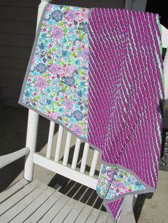 Faux chenille blanket   by Trio Stitch Studio