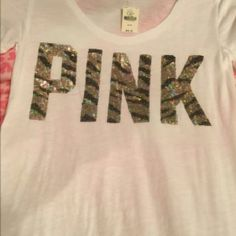 Pink VS Bling T-shirt New Small cotton shirt from VS never worn Tops Tees - Short Sleeve