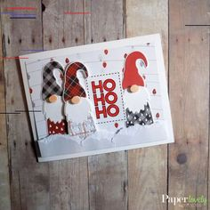 How to work out a personalized holiday menu - HomeCNB Christmas Card Crafts, Christmas Gnome, Xmas Cards, Handmade Christmas, Holiday Cards, 12 Days Of Christmas, Cute Cards, Diy Cards, Winter Karten